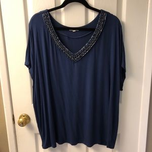 Tops - Plus Size Women's Beaded Blouse